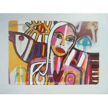 Popular Graffiti Paint Design Printing PP / PVC Placemat / Coaster
