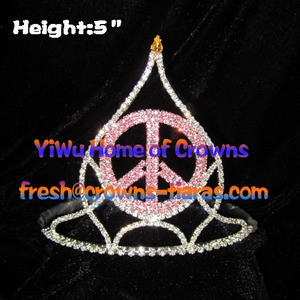 Peach God Crystal Crowns and Tiaras