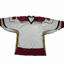Número de equipo y nombre baratos Jersey de hockey sobre hielo de la universidad