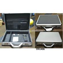 Nueva llegada de fuerte y la caja de aluminio portable del ordenador portátil fabricante de China, con opciones de color diferentes