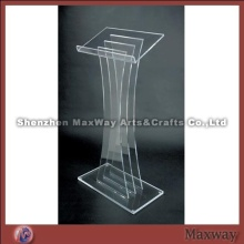 Simple Structure Water Clear Floor Acrylic Lectern