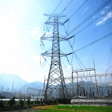 220kV Corner Terminal Power Transmission Iron Tower