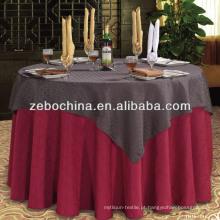 Moda design direto fábrica feita polyster atacado pano de mesa de casamento