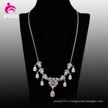 Лучшие продажи ожерелье белый камень Кулон для свадьбы