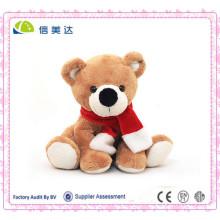 Hochwertiger Schal Sitzender Teddybär