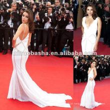 Sex Deep V-neck Celebrity Red Carpet Dress