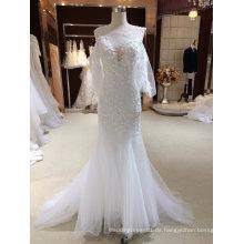 Meerjungfrau Wrap Lace Applique aus White Brautkleid