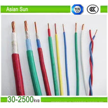 Thw Thhw Xhhw Copper Conductor PVC / XLPE aisló el alambre eléctrico del edificio