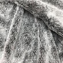 tissu réversible en fausse fourrure imprimé brossé