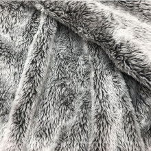 reversible brushed printed faux  fur  fabric