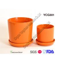 Macetas de cerámica vidriada