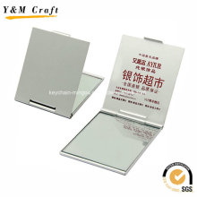 Print Advertising Aluminum Slim Make up Mirror Cheap Ym1165