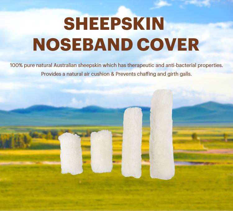 Sheepskin Horse Nose Bands