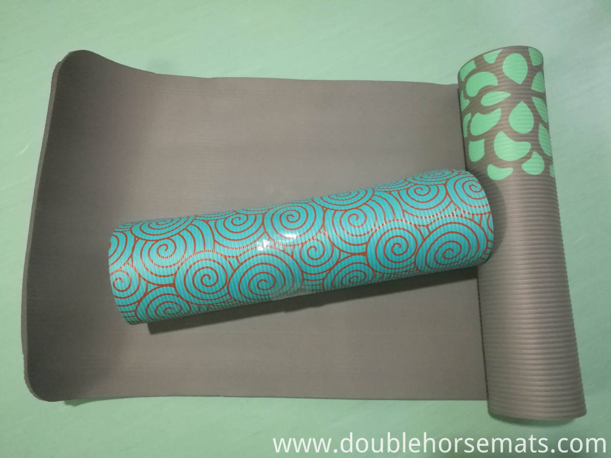 NBR silk printed exercise mat