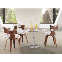 Wood metal frame dining chair new product swivel dining chair