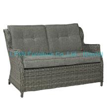 Mobiliário em vime PE Rattan Love Seat Sofá