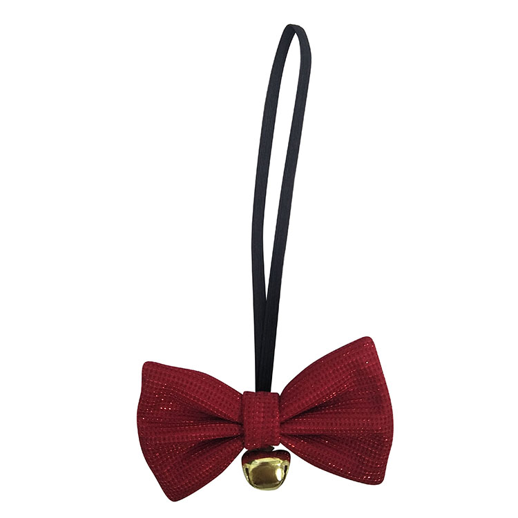 Christmas festival bow tie plaid red