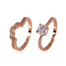 Кольцо с розовым золотом из золота Люпина Xuping с горным хрусталем