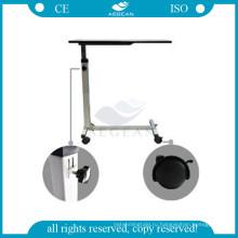 АГ-OBT001B подвижные медицинские стальная рама надкроватный регулируемый больничный стол поднос