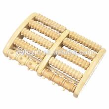 ручной логотип деревянные ноги роликовый массаж
