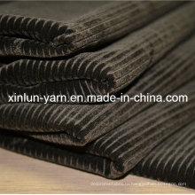 Полосатые модные спреи для печати Флокирующие ткани для дивана / занавеса