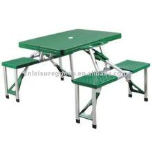 Plastic camping folding picnic table