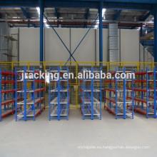 Jracking almacenamiento ajustable mental Q345 supermercado industrial estante de exhibición del pan