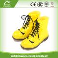 Yellow PVC Rain Boots With Shoe