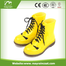 Yellow PVC Rain Boots With Shoe