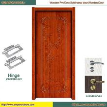 Porte en bois principale de porte en bois de MDF Porte en bois de pli de porte