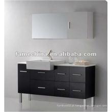Móveis de banheiro com bacia e espelho (FM-S2005) Madeira maciça