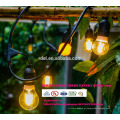 Patio Decoration Lights 48 Feet Hanging String Lighting with 15 Dropped Sockets, 10-Feet Extension Cord SLT-176