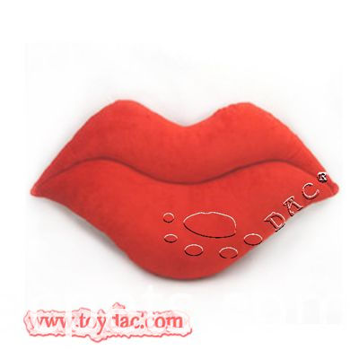 Big red lips cushion