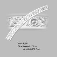 PU khắc cong thanh nẹp Rosette thiết kế