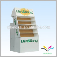 Factory supplier wholesale retail shop custom floor standing paperboard magazine rack