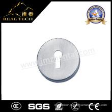 Acessórios de porta Escudo de aço inoxidável com furo de chave de cilindro