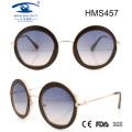 Runde Form Acetat Sonnenbrille (HMS457)