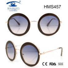 Round Shape Acetate Sunglasses (HMS457)