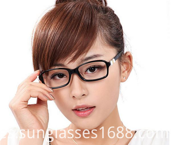 Stylish Branded Leather Bow Ms. Repair Face Coated Glasses