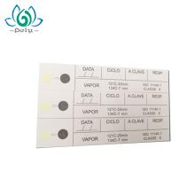 Precio de fábrica tarjeta de indicador de humedad de esterilización de vapor / etiqueta