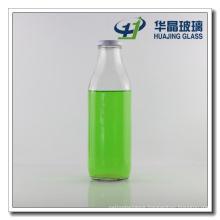1000ml 1 Liter Square Shaped Large Glass Milk Bottle