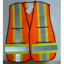 100% Polyester High Visibility Reflective Vest Traffic Safety Vest