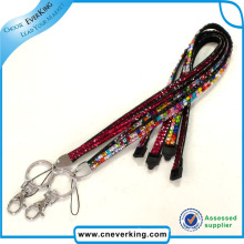 High Quality Rhinestone Lanyard with Keychain