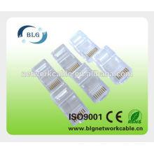 Enchufe del conectador de la red de utp rj45 8p8c de China