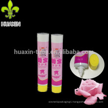small aluminum oval plastic tube for gel