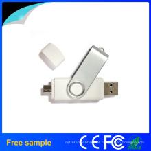 Livre amostra 8GB Flash Drive Swivel OTG USB