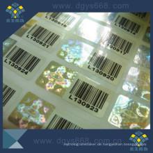 Barcode-Sicherheits-Anti-Fälschungs-Laser-Aufkleber