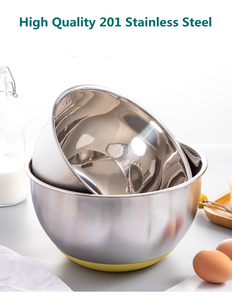 stainless steel salad bowl with lid