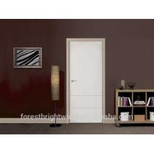 Preço barato branco flush porta de madeira morden