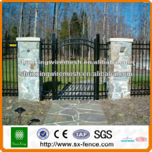 Hot sale PVC coated fence gate grill designs(manufacturer)